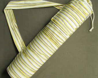 Yoga Mat Bag. Gift for Women. Yellow & Grey Striped Yoga Gym Bag. Yoga Mat Tote. Yoga Mat Carrier. Yoga Accessories. Yoga Gear. Yogi Gifts