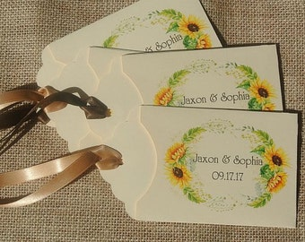 Wedding Favors | Sunflower Wedding Favors | Fall Wedding | Lottery Ticket Holders | Sunflower Wedding | Rustic Wedding Favor | Sunflower