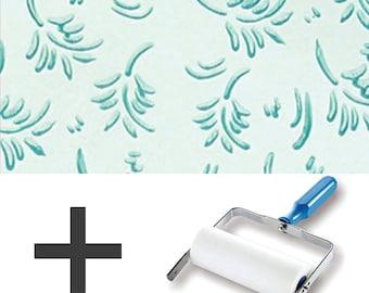 1-Colour Pattern Paint Roller STARTER PACK - Leaf Patterns