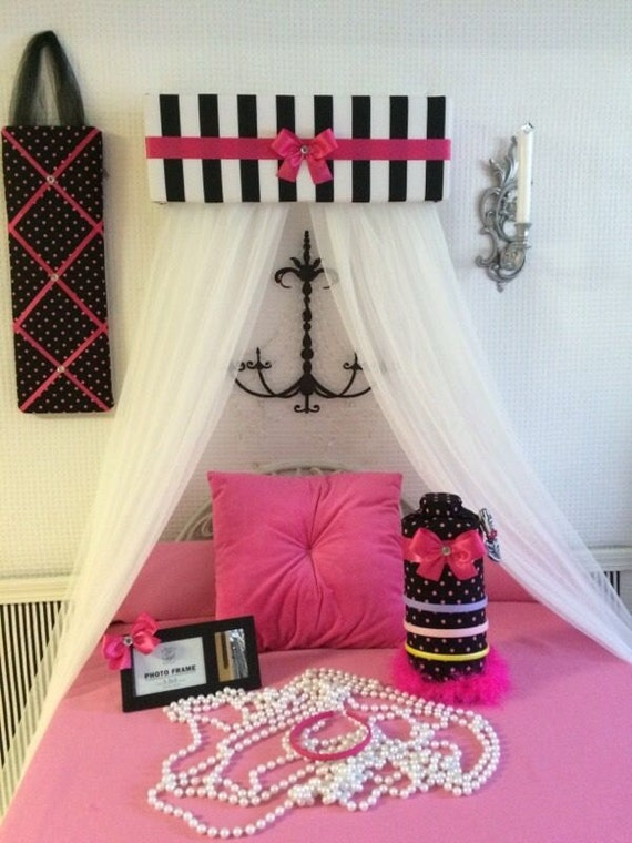 bedroom set for girls bed canopy headband hairbow jewelery paris