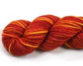 Firestarter--hand dyed DK weight yarn, Superwash Merino (250yds/115gm)