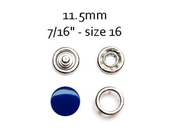 25 sets Navy Blue Snap Fasteners 11.5MM. capped snaps. clothes fasteners. no sew snap buttons. metal prong snaps. metal diaper snaps #700115