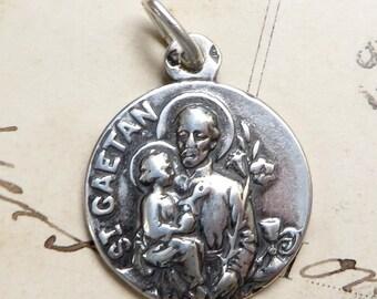 St Cajetan Medal - Patron of unemployed people & gamblers - Antique Reproducti