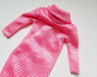vintage pink cowl-neck barbie dress 1985
