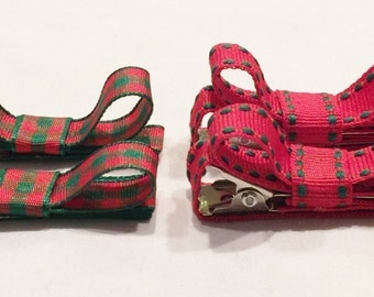 Red Hair Clips Christmas Hair Clips Plaid Hair Clips Barrettes And Clips Hair Clip Bow Toddler Hair Clips