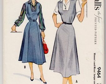 "Vintage Sewing Pattern 1950's Ladies' Dress McCall's 9464 Size 36"" Bust - Free Pattern Grading E-book Included"