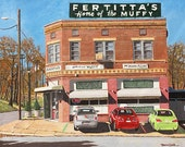 "Shreveport ""Fertitta's"" Italian Restaurant 11x14"" and 13x19"" Signed Numbered Art Print Buy Any Two Get One Free"
