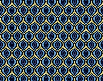 Golden Eye Black Gold Rhapsody in Blue Benartex Fabric 1 yard