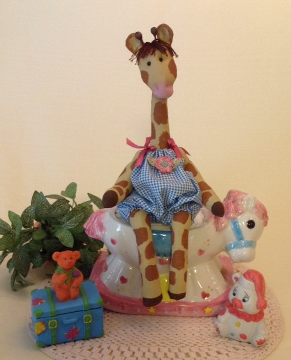 Mailed Cloth Doll Pattern Baby Giraffe sewing pattern