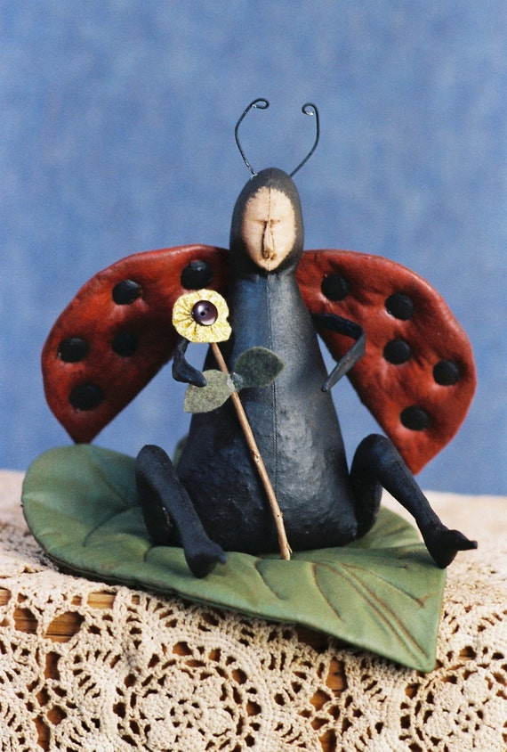 Mailed Cloth Doll Pattern - Lady Bug pattern
