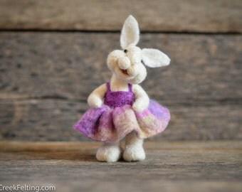 Bunny Rabbit  - needle felted - Bear Creek Bunnies -335
