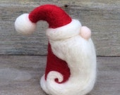 Christmas Decoration Wool Felted Santa St Nick Christmas gnome elf Father Christmas red white Waldorf inspired