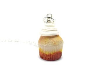 Vanilla Cupcake necklace, Miniature Food Jewelry, Polymer Clay Food Jewelry