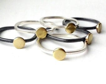 itty bitty rings in brass