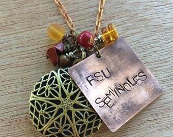 C167 FSU Seminoles Necklace