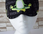 Froggy Yoga Eye Mask for Sleep, Travel, etc. ~ READY TO SHIP ~ Gift for Her, Gift for Him, Teachers, Friends, All Occasion Gifts