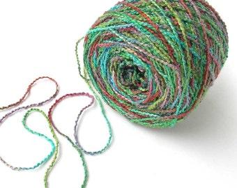 Hand Dyed Rayon Yarn Rayon Nubby Yarn - Spring Meadow