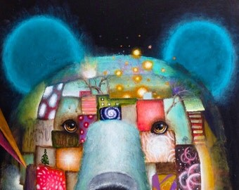 Bear - Artwork - Prints - Nature - Surrealism - Surreal - Whimsical - Popsurrealism - Art - Painting -