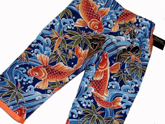 Koi fish japanese clothing asian clothing baby boy pants for Baby japanese koi fish for sale