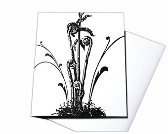Woodland Fern Blank Letterpress Card