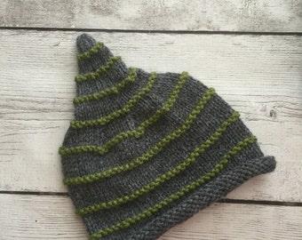 Pixie, Gnome Style Beanie Hat 0-6mos