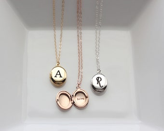 Personalized Locket - Engraved OVAL MINI Locket, Initial Locket, Christmas Gift, Personalized Gift, Locket Necklace, Bridesmaid Gift, Locket