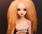 SALE BJD Wig Mohair Icelandic Fur Doll 1/4  size 7 Wool MSD Fairyland ooak Straight Hair Golden Blond
