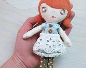Pocket Dolly - Red Haired Girl in the Blue Dress and Apron