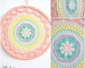 Crochet Mandala Dreamcatcher | Wall Hanging | Textile Art