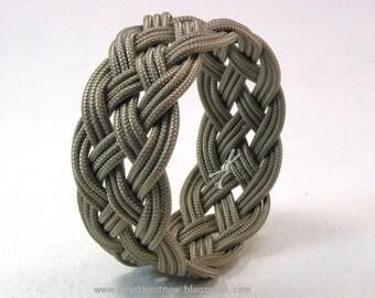 khaki paracord rope bracelet rope jewelry cuff bracelet turks head knot armband sailor rope bracelet 3903