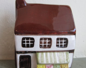 Vintage English Cottage, Ceramic Cottage, Suffolk House, Made in England, Around the Corner, Miniature Cottage, Mini Village, Ceramic House