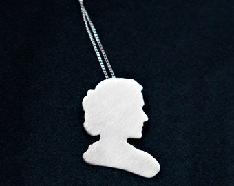 Marie Curie Necklace, Science Jewelry, Science Gift Idea, Geek Gift Idea, Feminist Jewelry