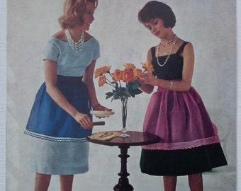 Vintage Crochet Pattern 1950s 1960s Edgings for Aprons Coats No. 810 UK Women's Apron Pinafore Trim  50s 60s original pattern