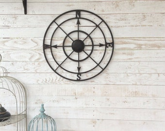 Nautical Wall Decor, Metal Compass Wall Art, Nautical Wall Art, Nautical Decor, Metal Compass Decor, Metal Wall Decor, Nautical Wall Art