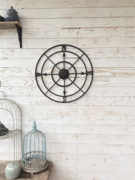 Small Nautical Wall Decor : Nautical wall decor metal compass art