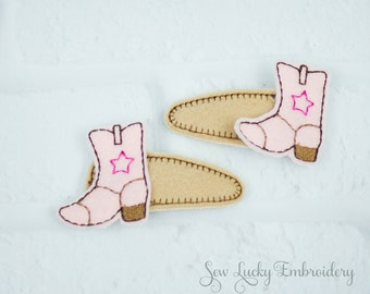 Cowgirl Western Boots Clippy Set