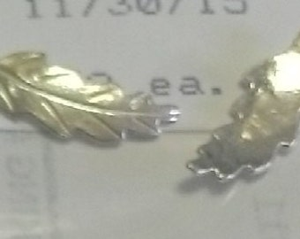 18mm long ~ Sterling Silver Cast Leaves / Leaf for Soldering projects ~ To Be ORDERED for you ~ EFF-017 ~ FDK