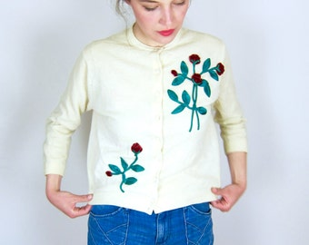 Sweet 60's Rose Cardigan