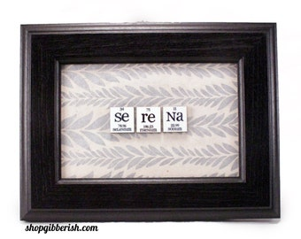Science Gift Chemistry Name-Sign - Periodic Table of Elements - Personalized, Custom science gift
