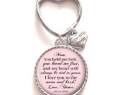 Mother of the Bride Gift, Personalized Keychain, Mother of the Bride Keychain, Wedding Kechain, Style 687