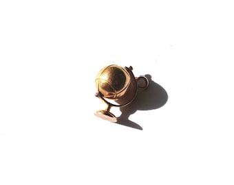 14k Rose Gold Art Deco Movable Globe Charm