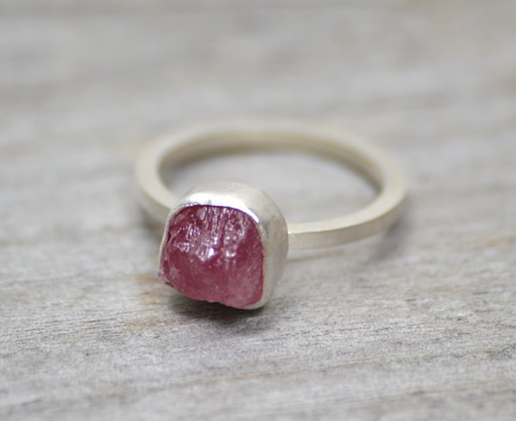 rough ruby engagement ring, rustic ruby stacking ring, over 1.6ct ruby ring, ruby anniversary ring