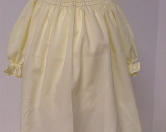 Ready to Smock Button Up Back Bishop Style infant Daygown Made to Order