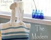 Crochet Pattern Tote Bag, Easy Crochet Pattern, Bag Pattern, Crochet Purse Patten,  Worsted Aran Yarn, Striped Bag, INSTANT pdf DOWNLOAD