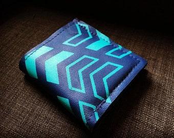 WALLET - navy leather wallet - unisex wallet - custom leather wallet - mens wallet - slim wallet - handmade leather wallet - bifold wallet