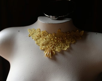 Yellow Sunflower Beaded Lace Applique for Lyricla Dance, Costumes,  Garments, Jewelry Design CA 755sfy