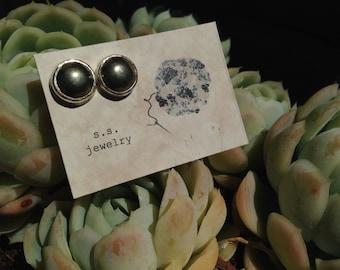 Pyrite Post Earrings