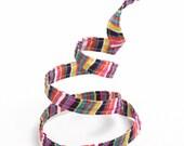 Skinny Headband, Wired Headband, Headband, Hair Accessories, Thin Headband, Twist Tie Headband, Women's Headband, Multi-Colored Zany Stripes