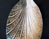 Vintage Wm Adams Sheffield England Silverplate 9 Inch Beautifully Etched Ornate Serving Spoon, Great Condition
