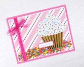 Cupcakes, Cupcake birthday cards, girls birthday cards, happy birthday cards, cupcake cards, confetti, kids birthday cards
